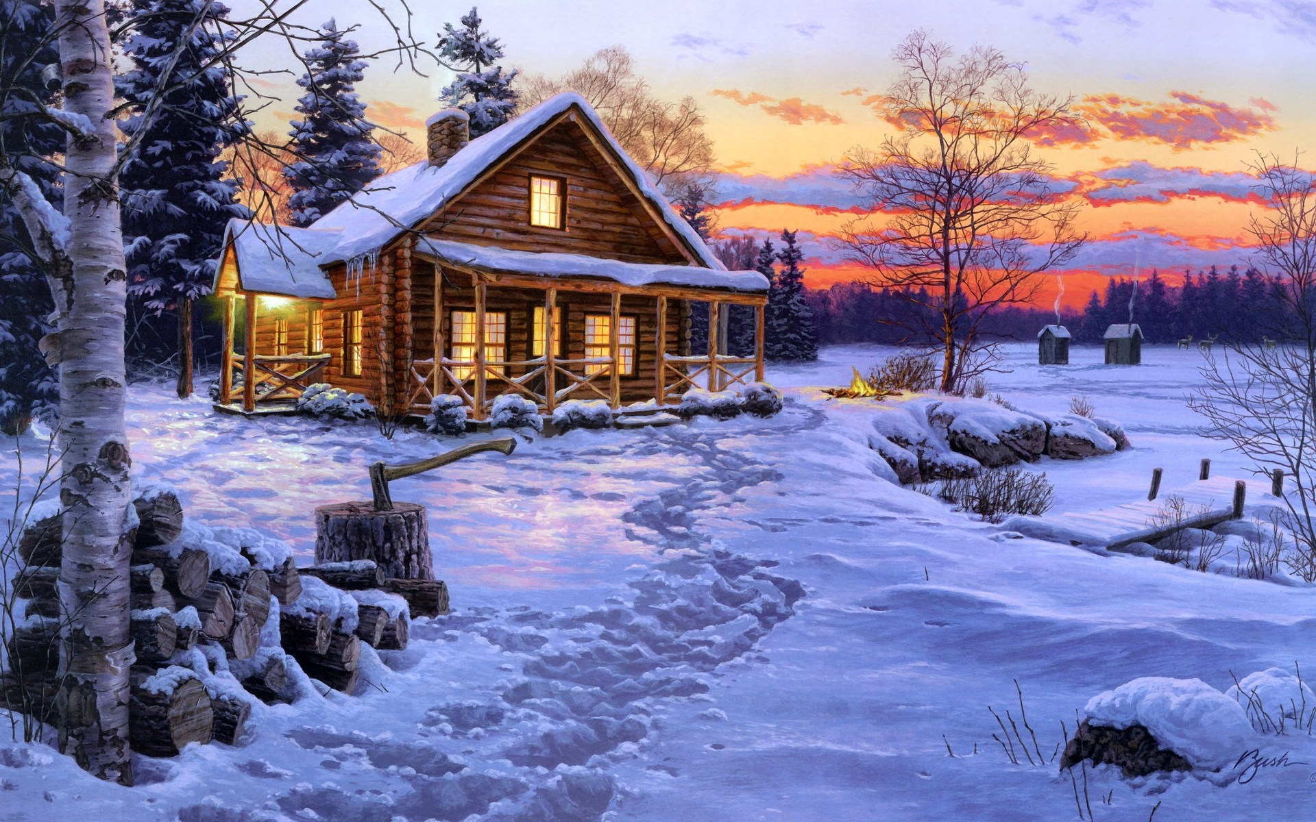 Winter snow oil paintings for sale wholesale oil for Artworks for sale online