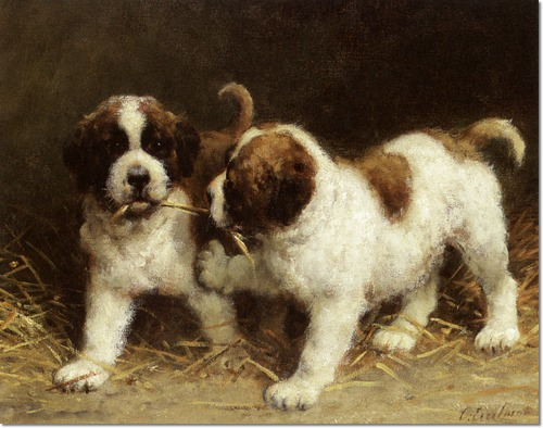 Dog Oil Paintings